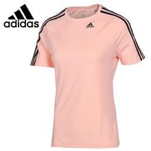 Original New Arrival  Adidas D2M TEE 3S Womens T shirts short sleeve Sportswear