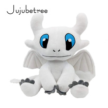 How to train your dragon 3 white Plush Toy Light Fury Toothlesss Girlfriend Soft doll 25cm New