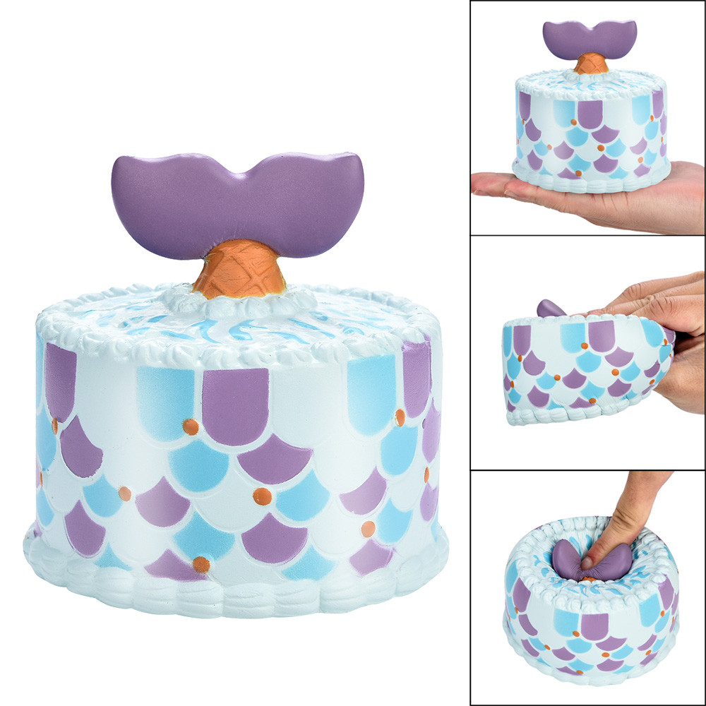straps toy Dolphin Cake 10cm Squishy Dolphin Cake Scented Charm Slow Rising Squeeze Stress Reliever Toy