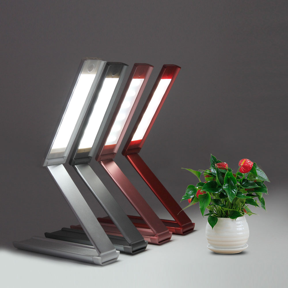 Новый творческий глаз-защита Чтение стол настольные лампы светодиоды складной регулируемый Портативный Яркий Мини чтение книги ночник USB