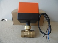 DN15 G 1 2 AC220V Electric Actuator Motorized Controller Brass Ball Valve Three Wire Two Control