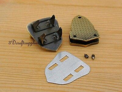 purse lock wallet Thumb latch tongue clasp anti bronze 1 inch x 1 1/2 inch N22