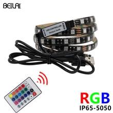DC 5V RGB LED Strip 5050 Waterproof USB LED Light Flexible 50CM 1M 2M Fita LED Tape Christmas Lights For TV Background Lighting