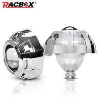 2Pcs 2.5 Inch Bi xenon Len Mini HID Projector Lens Silver Black H1 Bulb H4 H7 Motorcycle Automobile Car Styling Headlight Lens