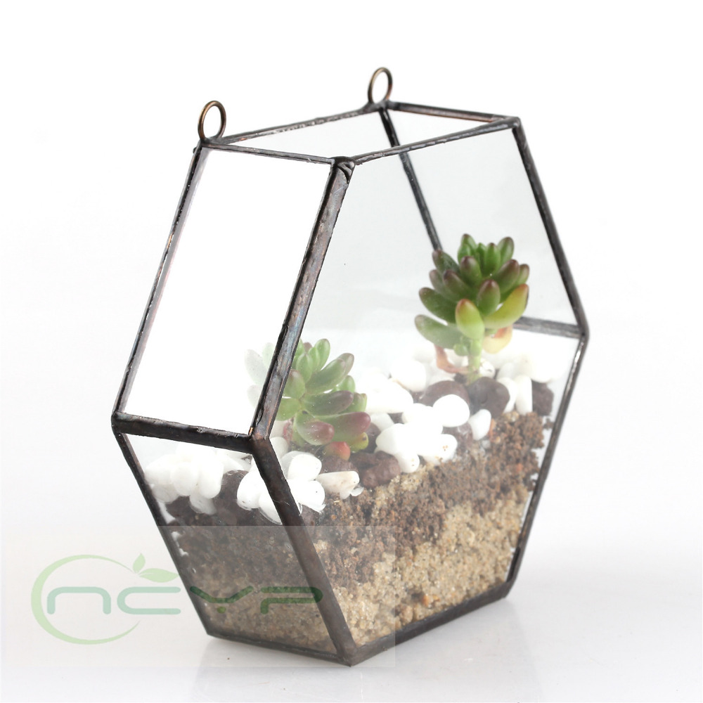 Popular glass plant pots buy cheap glass plant pots lots for Jardin glass vases 7 in