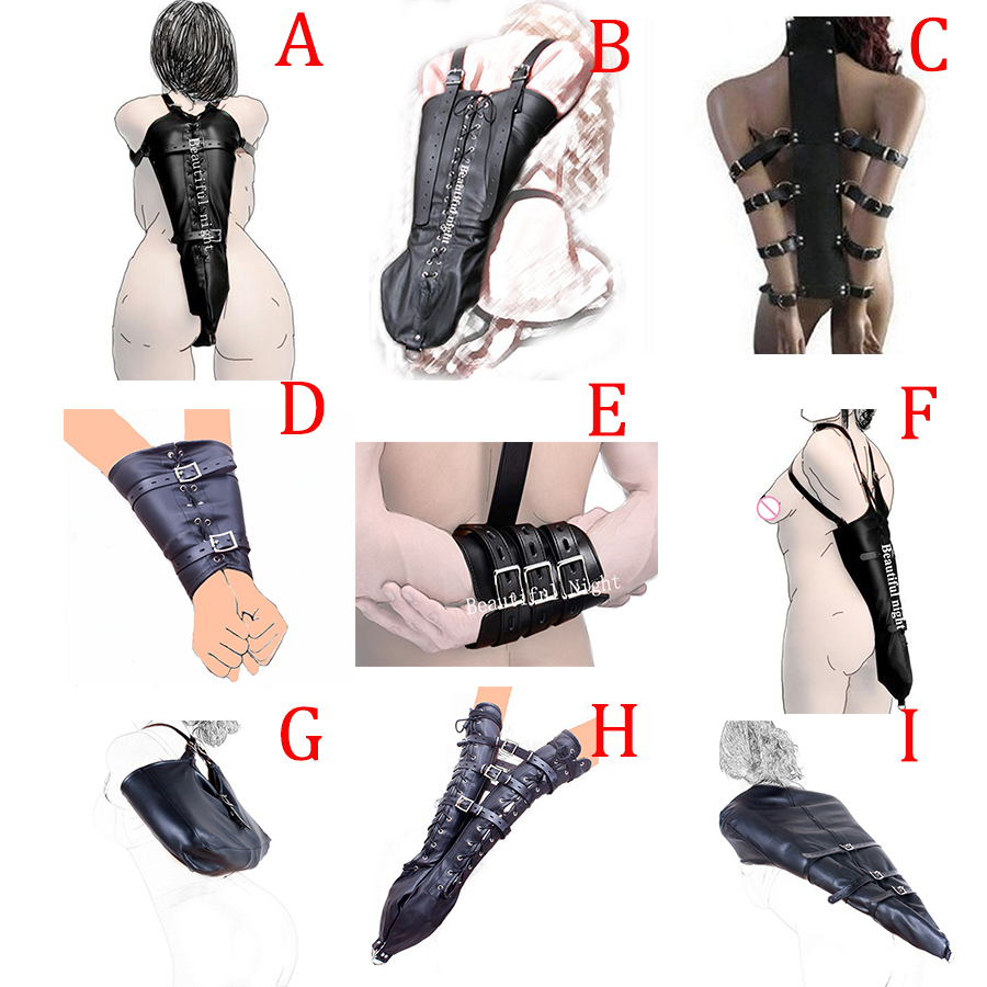 Leather Back Arm Binder,Armbinder Sleeves Straps ,Arms Behind Back Accessories,Halloween Costume