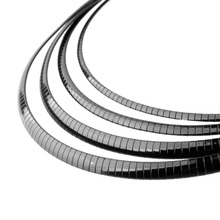 3/4/6/8MM Fashion Vintage Mens Boys Simple Black Color Thin Stainless Steel Chain Choker Collar Necklace Jewelry Accessories 18