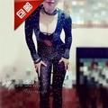 Мода dj певица ds костюм танец джаз сверкающий бриллиант один кусок костюмы марлевые перспективность