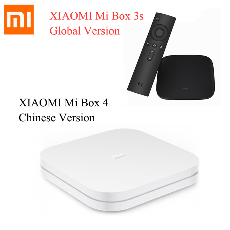 Original XIAOMI Mi Box 4 Chinese Version TV Box Mi4 Android 6.0 Amlogic Cortex-A53 Quad Core 64bit Xiaomi Box 3s Global Version