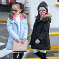 Winter Parkas For Girls Cotton Padded Coats Warm Thicken Hooded Winter Jackets Girls Outerwear Children Tops 4- 12 Years Girs