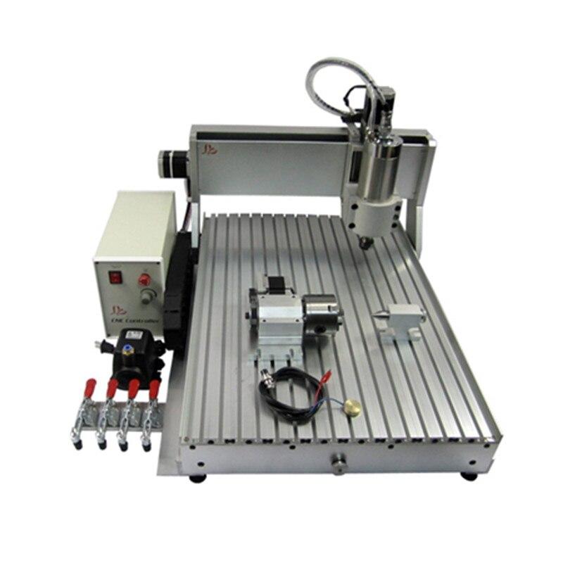 2200W CNC 6090 4 ejes cnc enrutador Metal 3D fresadora grabado máquina tallado madera con interruptor de límite y cortador poco