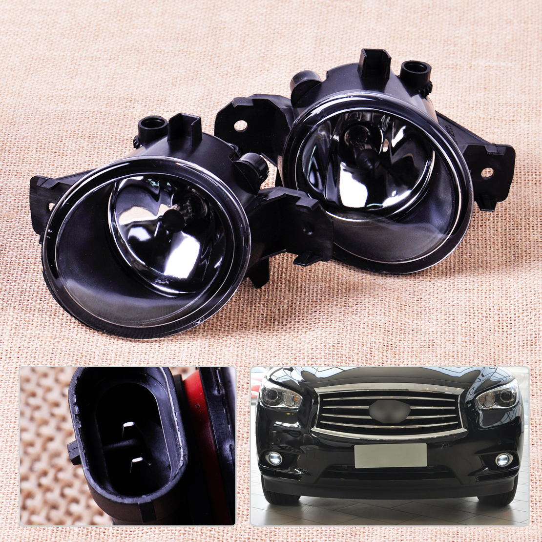 Infiniti qx60 rubber floor mats - 1pair Fog Light Lamp H11 Halogen Bulb Len Fit For Nissan Altima Infiniti Qx60 M35