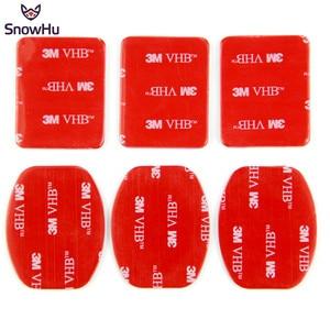 Image 2 - SnowHu 6Pcs אדום 3M VHB דבק מדבקת 3 מעוקל 3 שטוח צד כפול עבור Gopro hero 9 8 7 6 5 לxiaomi יי 4k GP14