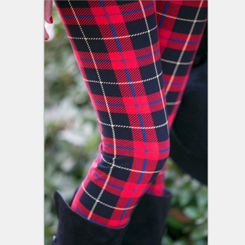 2016 Autumn Thin Legging Family Matching Outfits Legging Women Children Girls Stretch Legging Plaid Printing Leggings