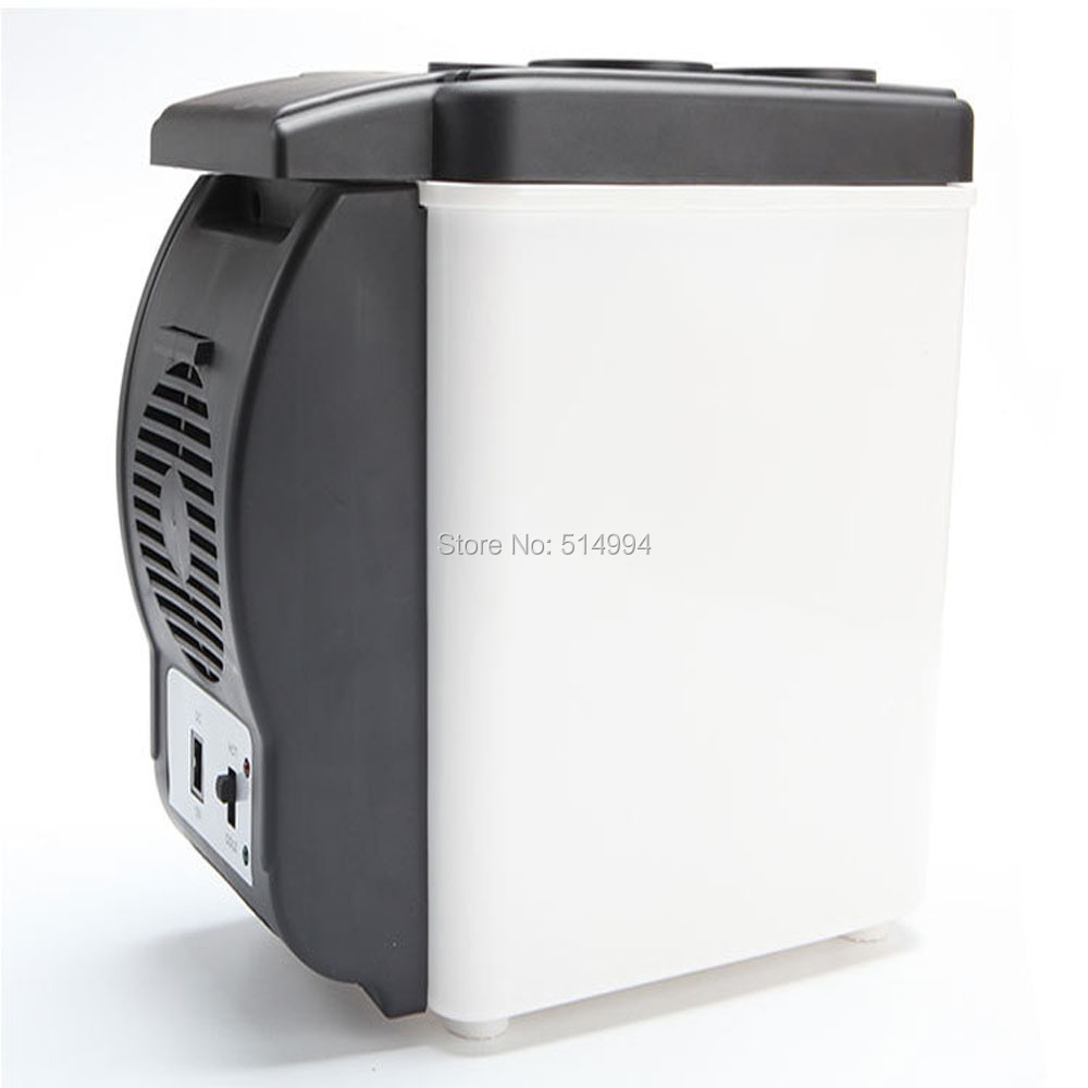 Mini 6.0L Portable 12V Car Refrigerator For Cooling And Heating Fridge Household Dual-use Cooler Bag For Travel and home