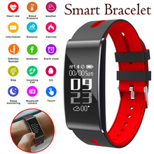 Homens Pulseira Heart Rate Monitor de Pressão arterial Inteligente Smartwatch Rastreador De Fitness Smartband Digital Conectar Relógio Para IOS Android