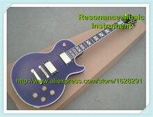 Großhandel & Einzelhandel Hochwertige Musikinstrument Dark Purple Tiger Grain LP Superme Elektrische Chinesische Gitarre Lefty lager