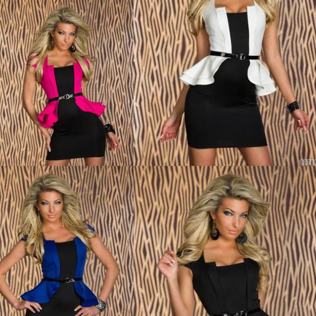 Free Shipping Plus Size Night Club Dress Under 20 Years Old Black Inside With