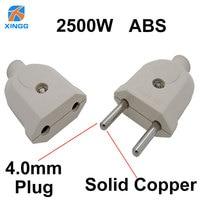2 Pin ue wtyczka mężczyzna kobieta wtyczka elektryczna gniazdo okablowanie rozszerzenie mocy wtyczka przewodu adapter złącza odłączany Rewireable na