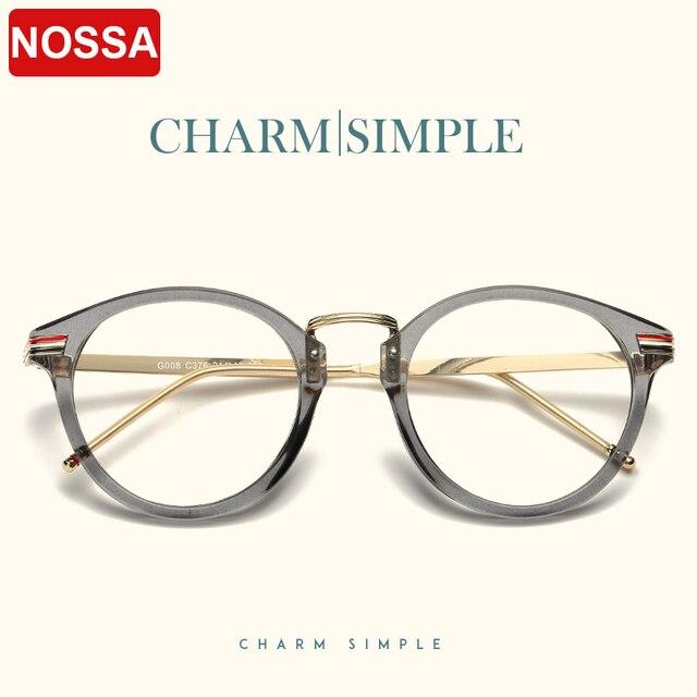 3a43bc4ea1 2018 Women And Men Myopia Glasses Frames New Fashion Brand Designer Round  Frame Glasses Unisex Prescription