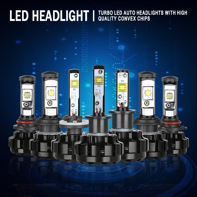 JGAUT V18 Car LED Headlight Kit H4 H13 9007 Hi/Lo H7 H11 9005 9006 H1 H3 XHP50 Chips Replacement Bulbs 3000K 4300K 8000K 6000K