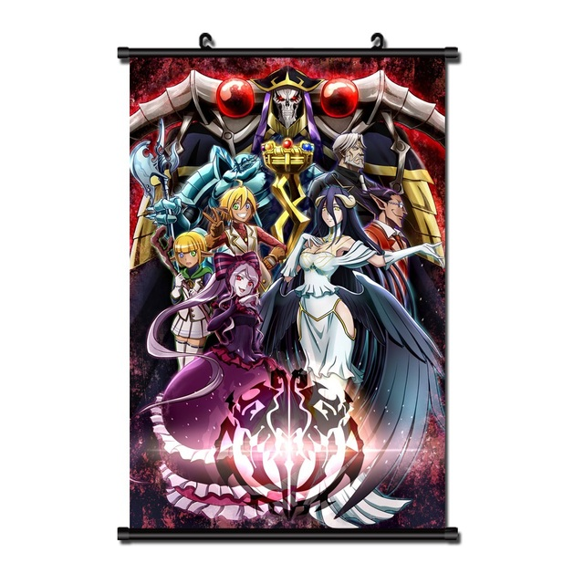 Japanese Anime Overlord Home Decor Wall Scroll Poster 40x60CM Dropshipping  Wholesalers Cartoon Halloween