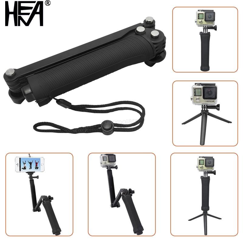 HENA Waterproof 3 Way Grip Monopod For Gopro Hero 5 3 4 Session SJ4000 Xiaomi Yi 4K Camera Go Pro Selfie Stick with Tripod Kits