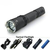 Hunting xm l2 tactical flashlight led linterna self defense flash light militar lanterna waterproof 18650 battery electric torch