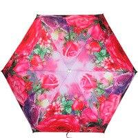ורד האדום מטריית שמשייה קלטת כסף בדרגה גבוהה שלד מטרייה מתקפל מטריית מתנה הכלה