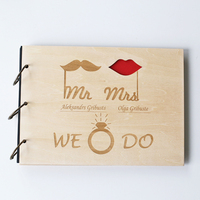 Custom Wood Wedding Guestbook,sign in book, Anniversary Gift, Bride and Groom, wood guest book,