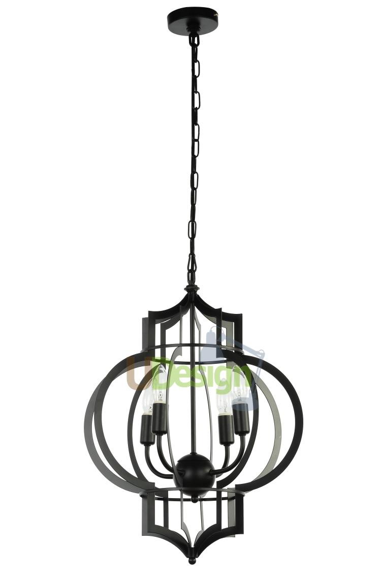 RH576 Retro Loft vintage style Metal painting cage pendant lights lamp - U Design Home store