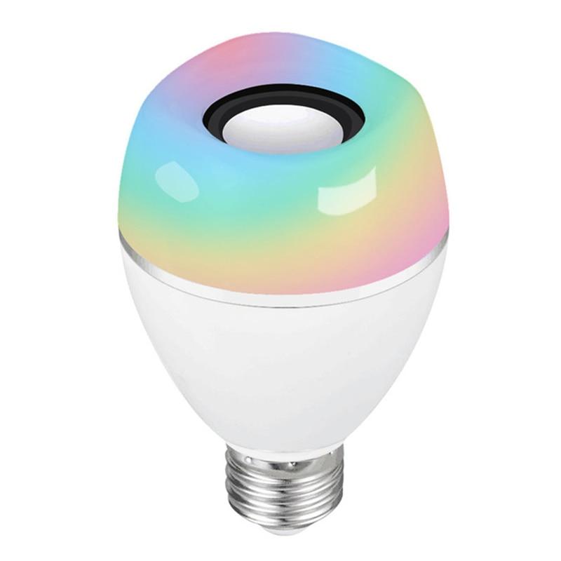 JLAPRIRA динамик Bluetooth лампы E27 светодиодный RGB свет Музыка лампа Изменение цвета через Wi Fi приложение управление плеер беспроводной 110 В 220 В