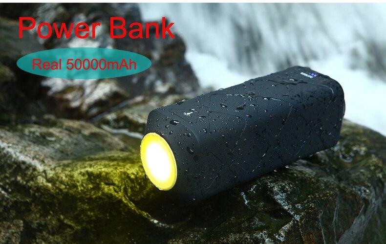 bilder für Echt 50000 mAh Energienbank Externe batterie Schnell-ladegerät 3,0 Power für Alle Handy für Freien/Exploration/Camping/Wanderung