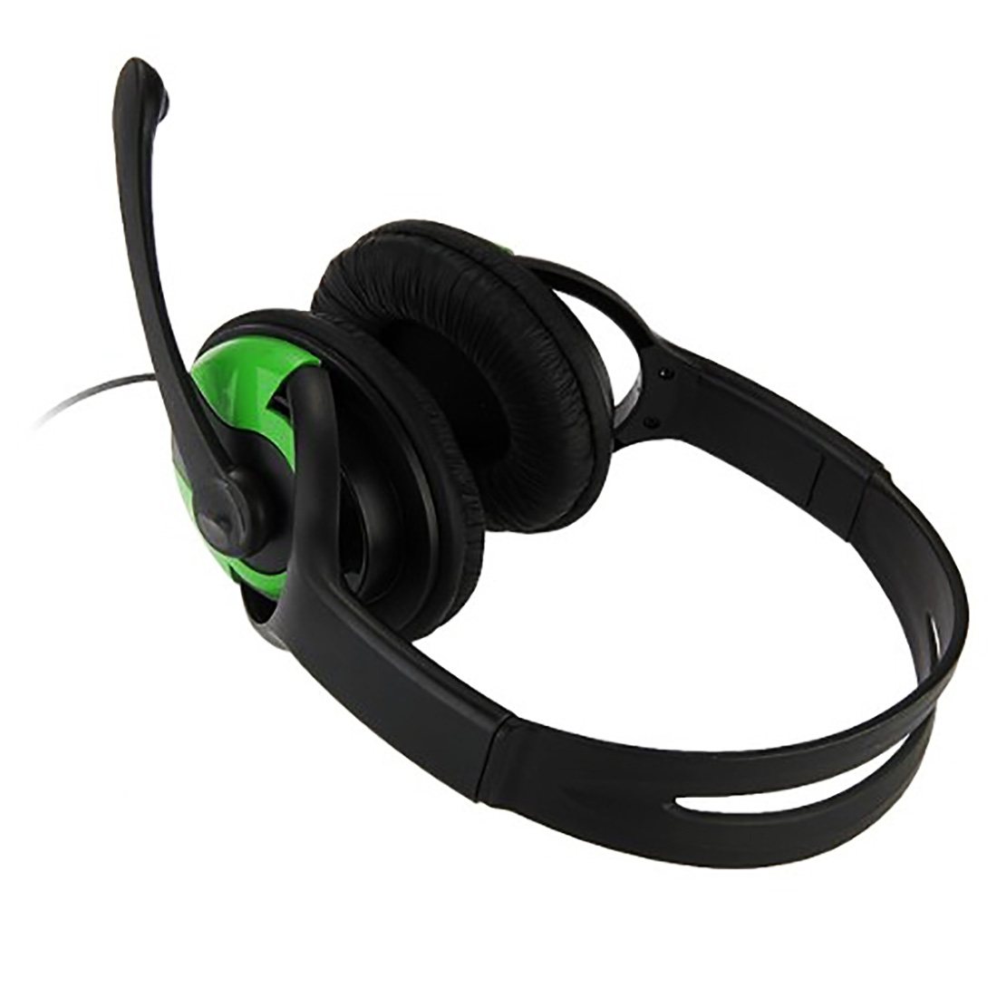 Marsnaska Fashion Hot Sale Adjustable TOP Gaming Headset wired Earphone Headsets + Mic Microphone for Xbox360 black green