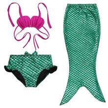 лучшая цена Child Mermaid Tail Costume Princess Ariel The Little Mermaid Costume For Girl Halloween Costume Kids Dress Swimming Suit Cosplay