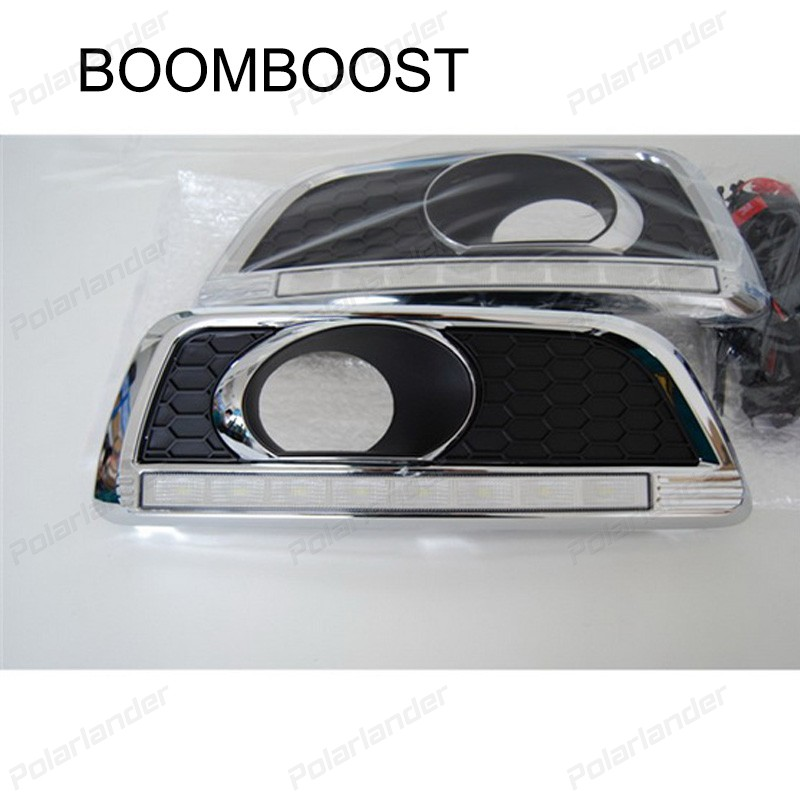 BOOMBOOST 2 pcs car accessory Car styling daytiime running lights for C/hevrolet M/alibu 2011-2015 boomboost 2 pcs auto lamps daytiime running lights car styling for f ord k uga or e scape 2013 2015