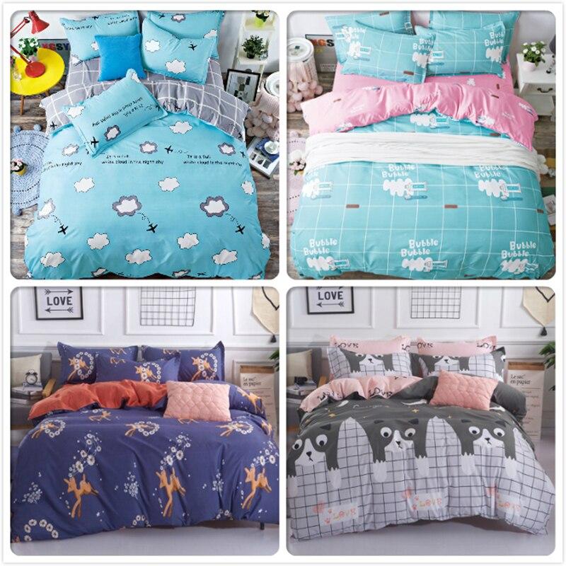 Glorious 1.5m 1.8m 2m 2.2m Bed Linens Flat Sheet Full King Queen Double Size Duvet Cover Child Kids Single Bedlinens 3/4 Pcs Bedding Sets Power Source