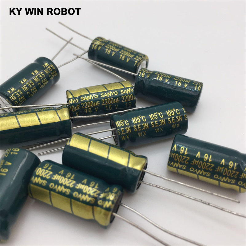 aluminum electrolytic 16V 2200UF 10*20 high frequency low impedance aluminum electrolytic capacitor 2200uf 16v (2)