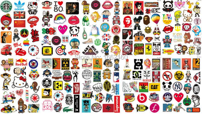 170 Stücke Vinyl Aufkleber Oberste Marke Logo Skateboard