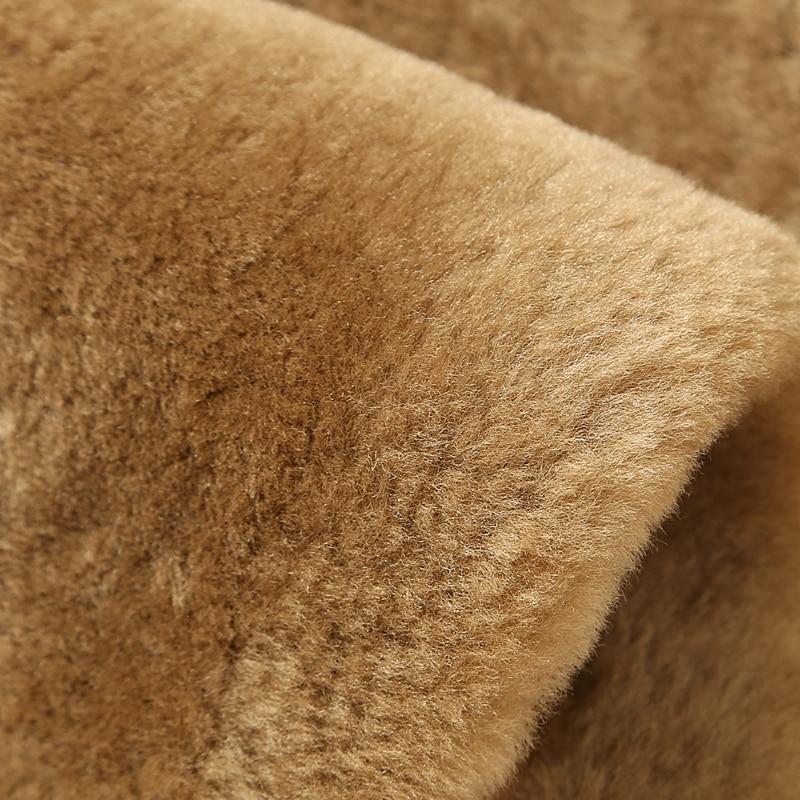 US $679.15 15% di SCONTO|Uomini Giacca di pelle Shearling Cappotto di Pelliccia di Cuoio Casuali degli uomini Giacca di Volo Tuta Sportiva TJ02 in