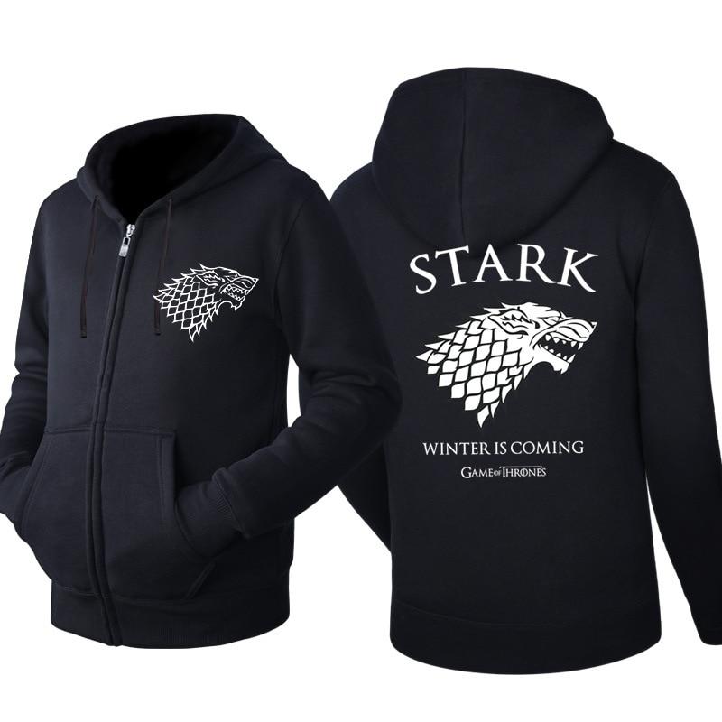 Di Animo Gentile Game Of Thrones Casa Stark Di Grande Inverno Casual Giacca Di Felpa Con Cappuccio Della Chiusura Lampo Del Cappotto 2019 Costumi Cosplay
