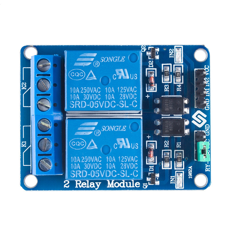 2 Channel 5V Relay Module Shield For Arduino UNO ARM PIC AVR DSP Electronic Relay Module Low Level Triggered Retail Package
