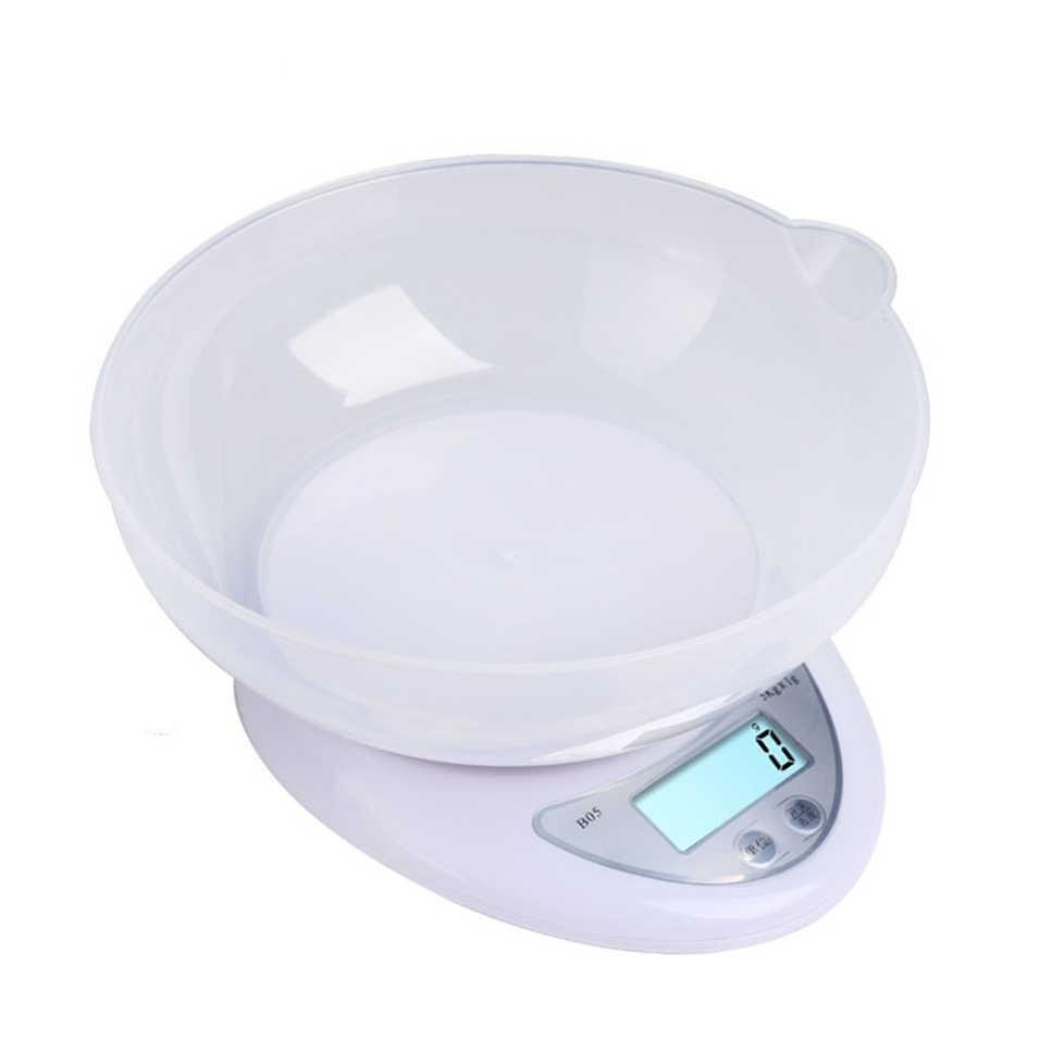 Цифровые весы 5000 г/1 г, 1000 г/0,1 г, светодиодный баланс, электронные весы с подносом