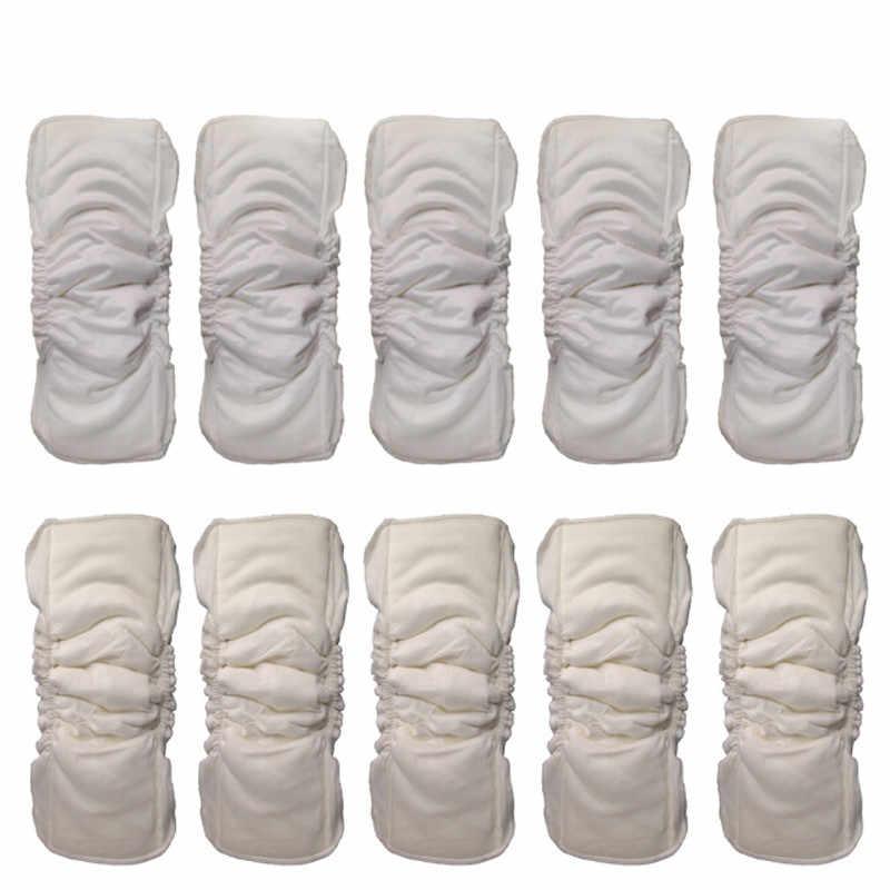 กันน้ำอินทรีย์ไม้ไผ่ผ้าฝ้าย Wrap แทรก 5 ชั้นล้างทำความสะอาดได้แทรก Boosters Liners สำหรับผ้าอ้อมเด็กปก