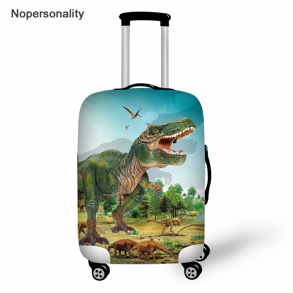 Nopersonality Dinosaur Print Trolley Case Suitcase Dust Cover,Elastic Fabric Luggage Protective Cover,The New Travel Accessories