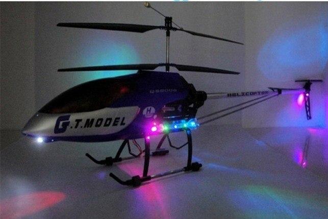 Больших heli GT QS8006 134 см 3.5ch гироскоп металлический каркас модель вертолет светодиодный свет 8006