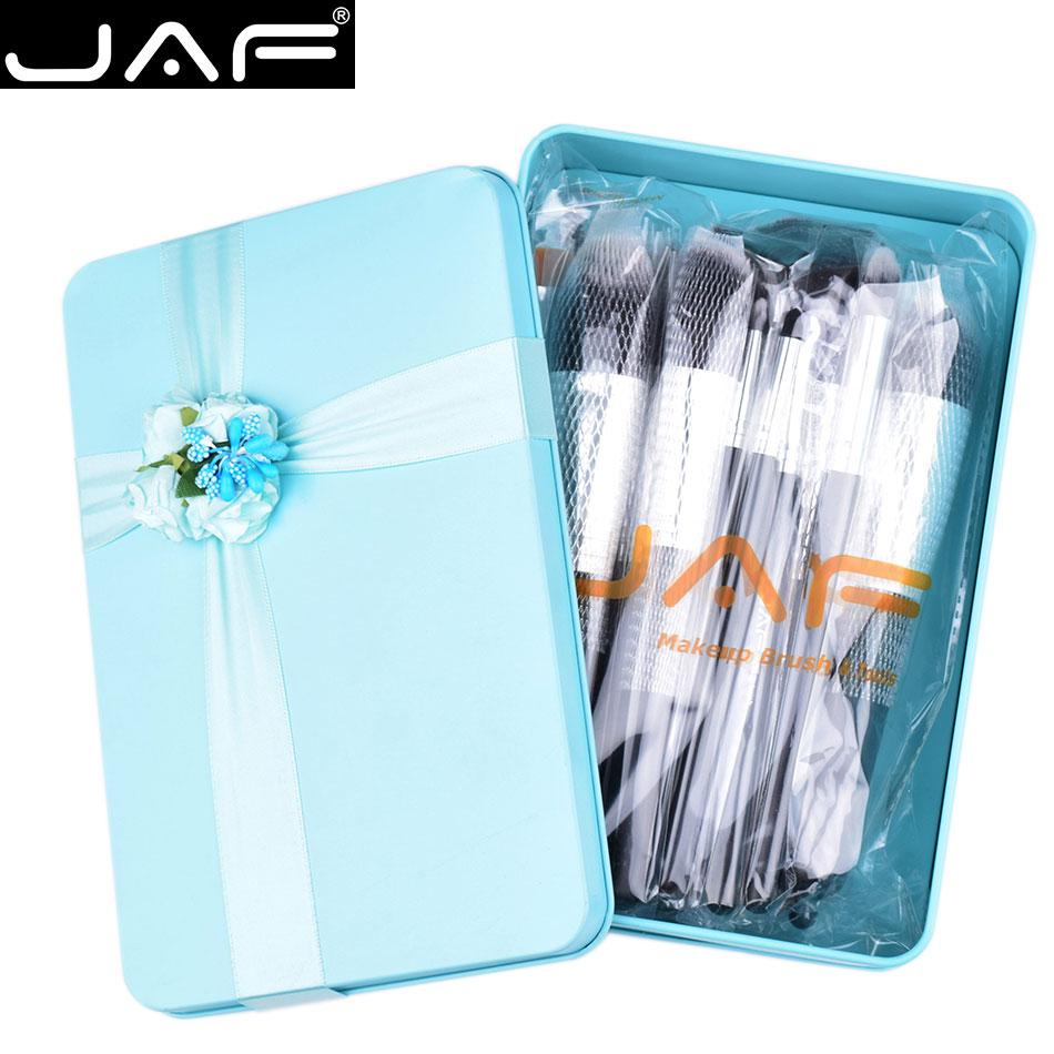JAF de Valentine 24 pcs Maquillage Brosses Excellent Cadeau Synthétique Make Up Brush Set Vert Boîte D'emballage pour Faire-up Lady # J2418GN-B