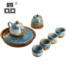 TANGPIN coffee and tea sets ceramic teapot teacups afternoon portable travel set drinkware