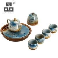 TANGPIN conjuntos de bule de cerâmica xícaras de café e chá conjuntos de chá da tarde chá de viagem portátil conjunto drinkware