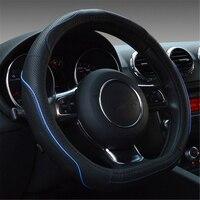 38cm 15 Black Artificial Leather Car Steering Wheel Cover Comfort Grip For Kia K2 Kia Rio